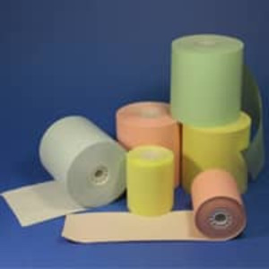Colored 1-Ply Bond Paper Rolls