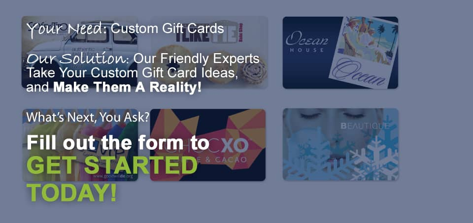 Get Started on Custom Gift Cards Now