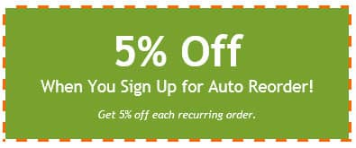 Auto Reorder Coupon
