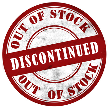 Red 'Out of Stock - Discontinued' Stamp