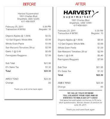 blog using surveys on your point of sale receipts