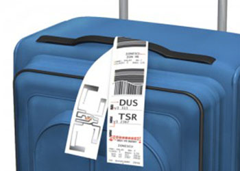 Luggage Bag with an RFID Label