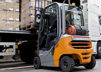 Packages Being Moved By Forklift