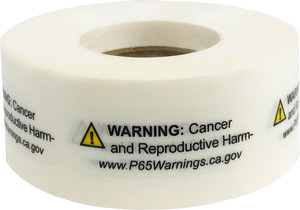 "0.5"" x 1.5"" Prop 65 Cancer & Reproductive Harm Warning Label (4 Rolls) - L-PROP65-1 12776"