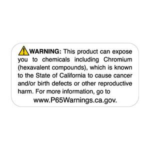 "1"" x 2"" Prop 65 Chromium Warning Label (4 Rolls) - L-PROP65-8 12832"
