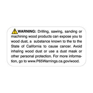 "1"" x 2"" Prop 65 Wood Dust Warning Label (4 Rolls) - L-PROP65-7 12831"