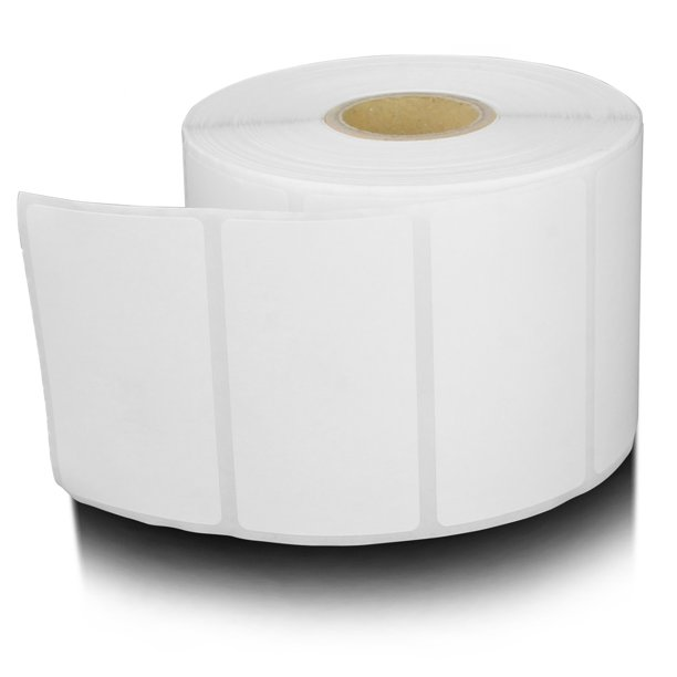 """1.25"""" x 1"""" Direct Thermal Labels, 1"""" Core, 1,380 Labels/Roll (12 Rolls)"""