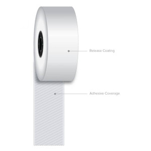 "1 1/2"" x 270' Iconex Full-Tack Sticky Media Linerless Labels (12 Rolls) - ICON-9023-1873"