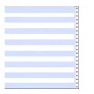 "14 7/8"" x 11"" 15# 1/2"" Blue Bar Hi-Lite Continuous Computer Paper (3500 sheets) - CP-3952"