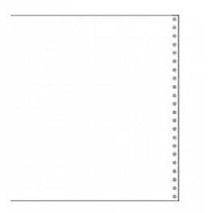 "14 7/8"" x 11"" 20# Blank Clean Edge Tri-Perforated Continuous Computer Paper (2700 sheets) - CP-9224"