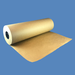 """15"""" x 840' Brown Kraft Packaging Paper Roll, 50lb - KP-15-50"""