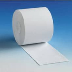 "2 1/4"" x 150' White Self Contained Roll Paper, 1-Ply, 50 rolls/case - S214-150"