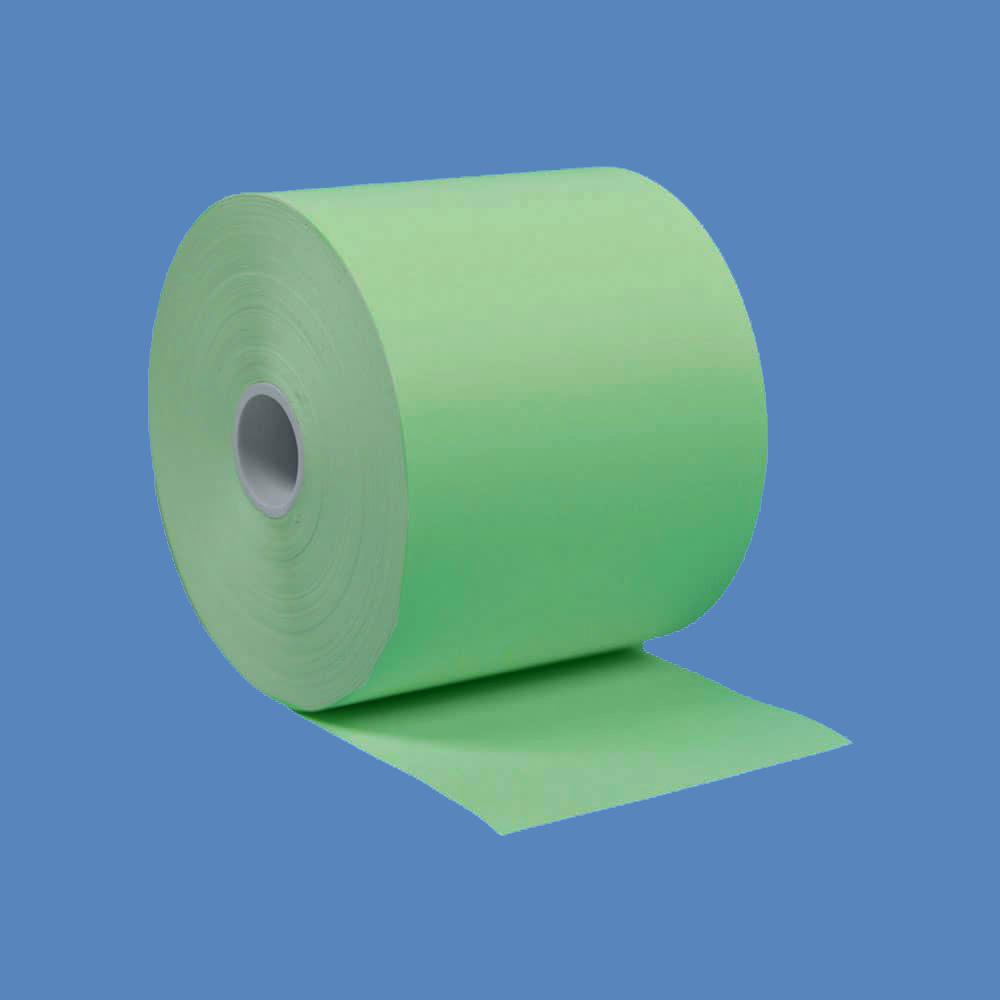 """2 1/4"""" x 230' Green BPA-Free Thermal Receipt Paper Rolls (50 Rolls)"""