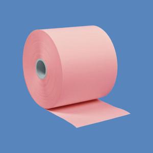 """2 1/4"""" x 230' Pink BPA-Free Thermal Receipt Paper Rolls (50 Rolls) - T214-230-P"""
