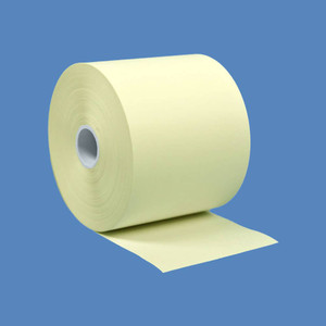 "2 1/4"" x 230' Yellow BPA-Free Thermal Receipt Paper Rolls (50 Rolls) - T214-230-Y"
