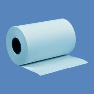 """2 1/4"""" x 50' Blue BPA-Free Thermal Receipt Paper Rolls (50 Rolls) - T214-050-B"""