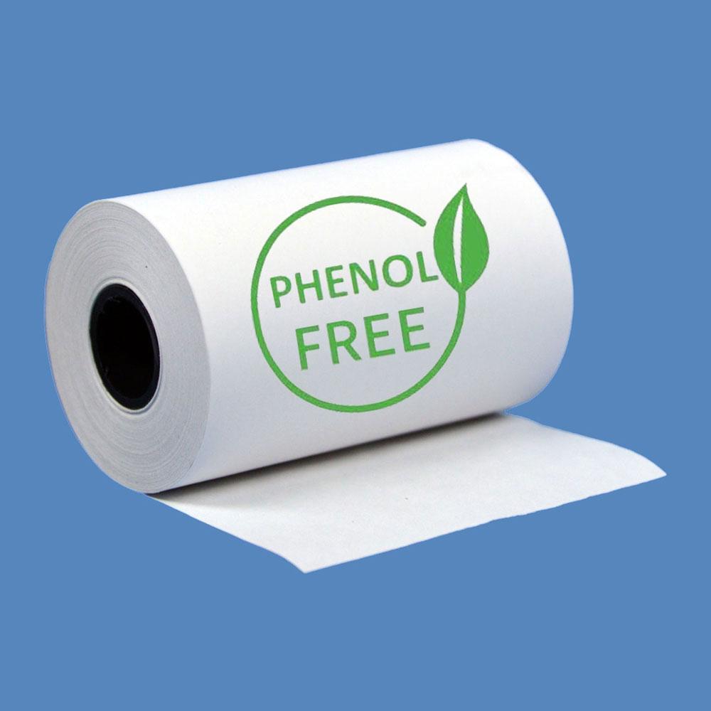 """2 1/4"""" x 50' Phenol-Free (BPA & BPS) Thermal Receipt Paper Rolls (10 Rolls)"""