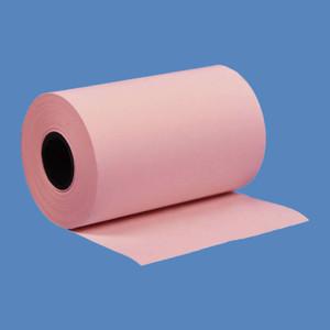 """2 1/4"""" x 50' Pink BPA-Free Thermal Receipt Paper Rolls (50 Rolls) - T214-050-P"""