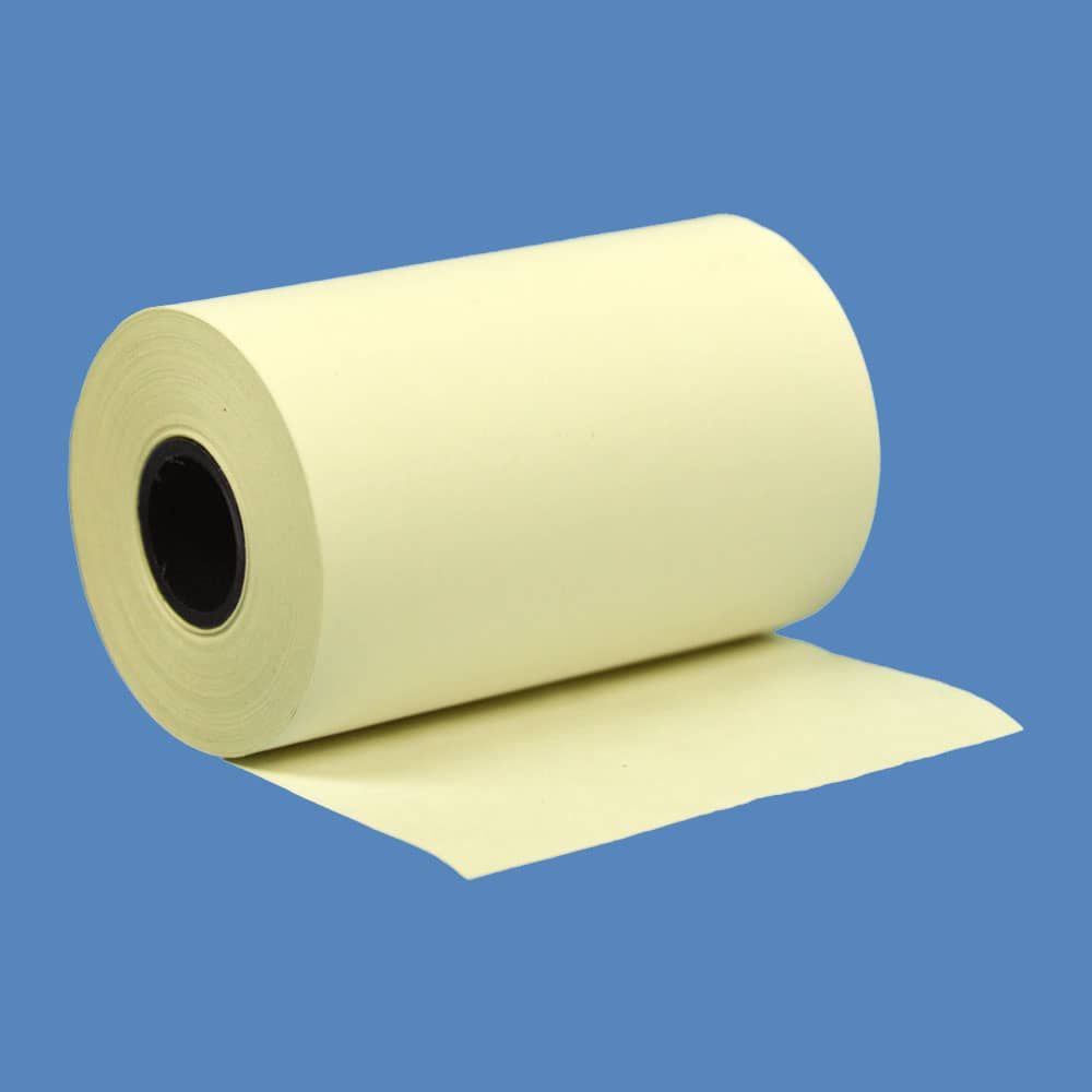 """2 1/4"""" x 50' Yellow BPA-Free Thermal Receipt Paper Rolls (50 Rolls)"""