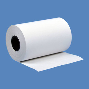 "2 1/4"" x 55' Thermal Roll Paper, 1/2"" ID, 3/4"" OD core, 50 rolls/case - T214-055"