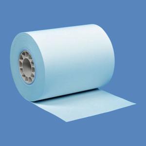 """2 1/4"""" x 85' Blue BPA-Free Thermal Receipt Paper Rolls (50 Rolls) - T214-085-B"""