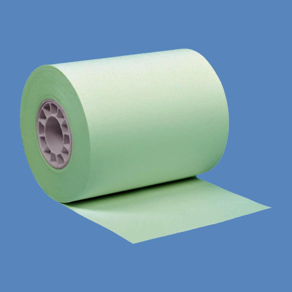 """2 1/4"""" x 85' Green BPA-Free Thermal Receipt Paper Rolls (50 Rolls)"""