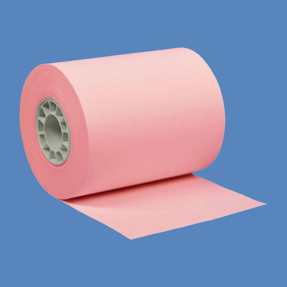 """2 1/4"""" x 85' Pink BPA-Free Thermal Receipt Paper Rolls (50 Rolls)"""