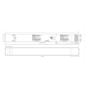"2"" x 21"" Thermal Baggage Tags, Freezer Grade Adhesive (4 Rolls) - AIR-GENBT21RL"