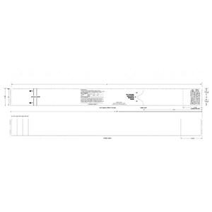 "2"" x 21"" Thermal Fanfold Baggage Tags, Freezer Grade Adhesive (2 Stacks) - AIR-GENBT21FF"