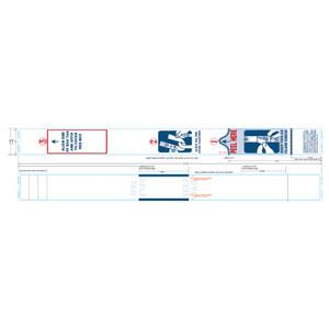 "2"" x 21"" Thermal Self-Tag Baggage Tags, Freezer Grade Adhesive (4 Rolls) - AIR-SLFTAG21RL"