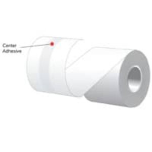 "2.25"" x 160' MAXStick 2Go, 15# Center Adhesive Thermal Roll, 24 rolls/case - MS2141602GO-24"
