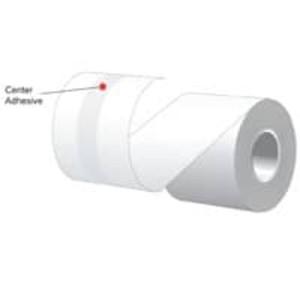 "2.25"" x 60' MAXStick Premium, 20# Center Adhesive Thermal Roll, 72 rolls/case - MS21460"