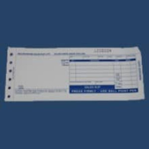 "2-Part LONG (7 7/8"" x 3 1/4"") Truncated Sales Imprinter Slips (100 slips) - IS-2SLT"