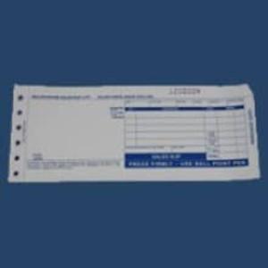 """2-Part LONG (7 7/8"""" x 3 1/4"""") Truncated Sales Imprinter Slips (500 Slips) - IS-2SLT"""