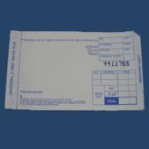 2-Part TRUNCATED SHORT Sales Imprinter Slips (100 slips) - IS-2SST