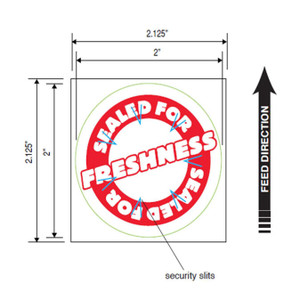 """2"""" Round Tamper Proof Seal Labels (4 Rolls) - ICON-9023-2498"""