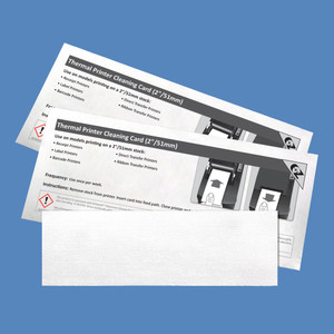 "2"" Thermal Printer Cleaning Cards K2-T26B25 (25 Cards)"