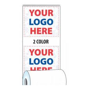 "2 1/4"" x 50' Custom Printed Thermal Receipt Paper - 50 Rolls/Case, 10 Case Min (2-Colors) - ZP-T214-050-2C"