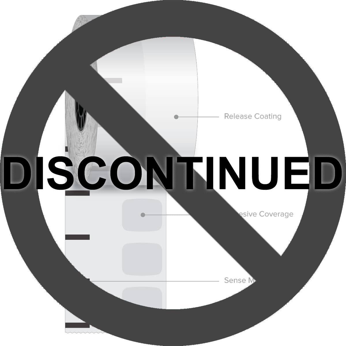 "2 1/4"" x 270' Iconex High Temp Sticky Media Linerless Labels (12 Rolls)"
