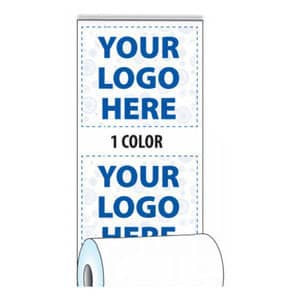 "2 1/4"" x 50' Custom Printed Thermal Receipt Paper - 50 Rolls/Case, 10 Case Min (1-Color) - ZP-T214-050-1C"