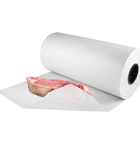 "24"" x 1000' White 40# Butcher Paper Roll"