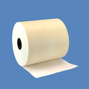 "3 1/8"" x 160' Parchment Heavyweight Thermal Receipt Paper Rolls (50 Rolls) - T318-160-PARCH"