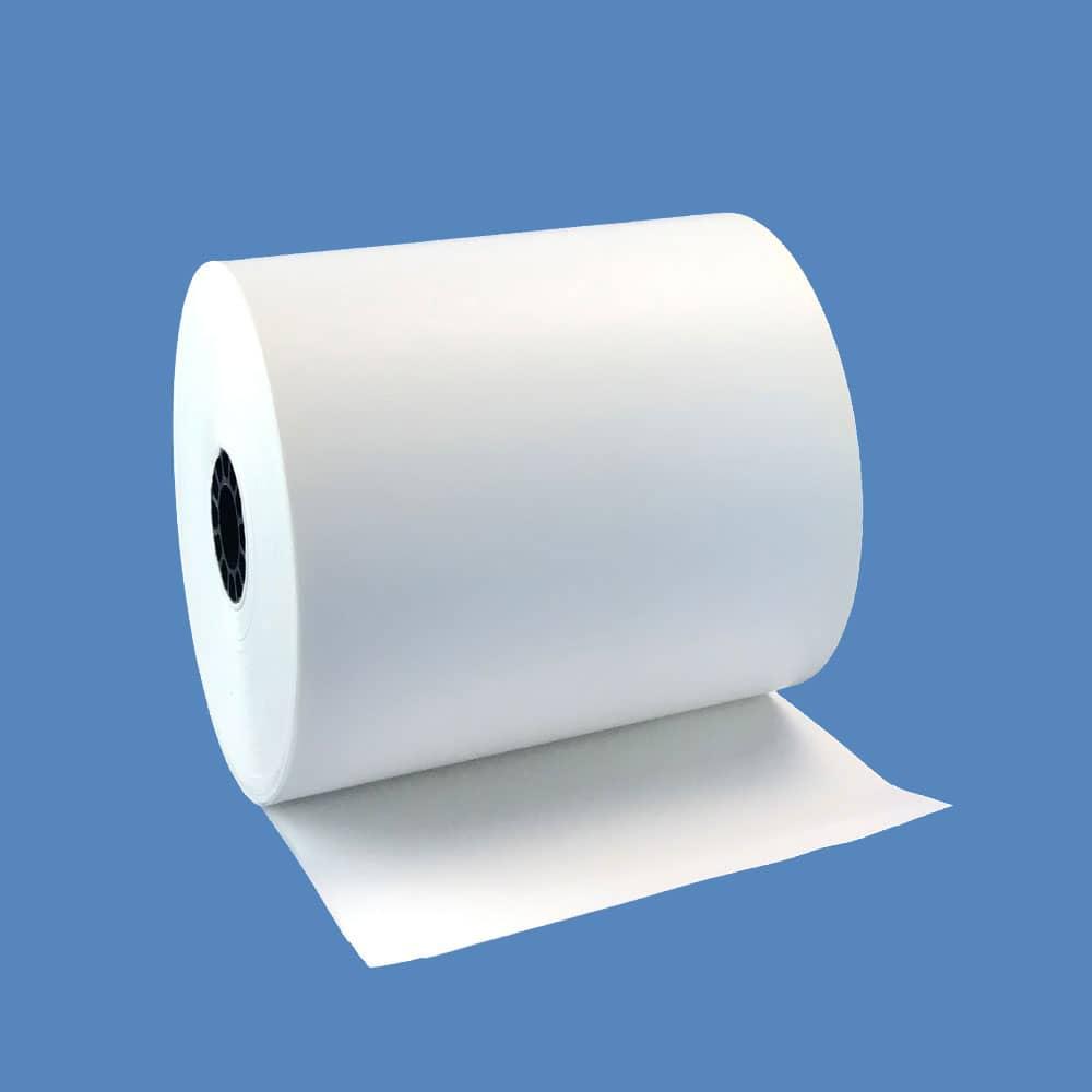 "3 1/8"" x 165' Top-Coated Heavyweight Thermal Receipt Paper Rolls (50 Rolls)"