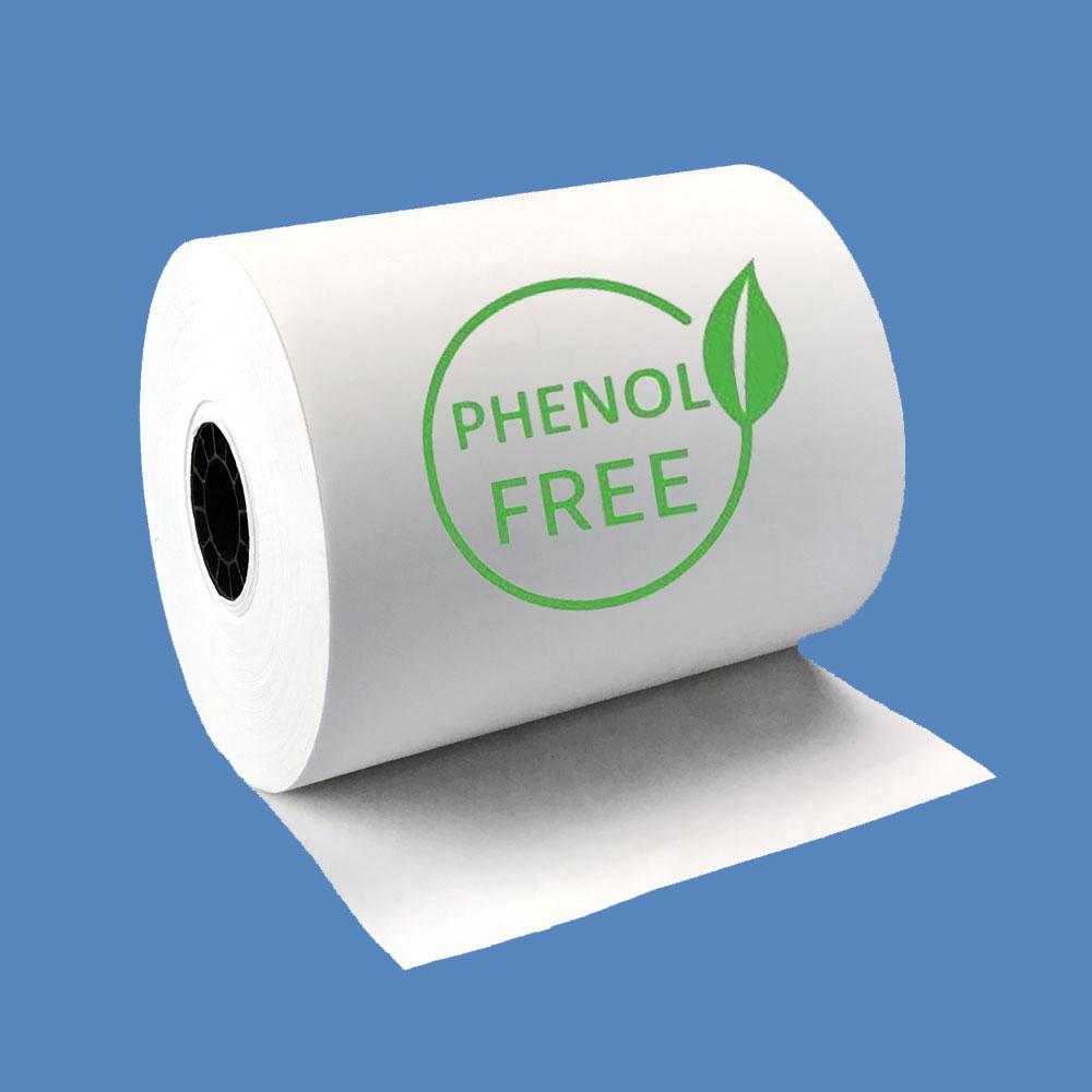 """3 1/8"""" x 220' Phenol-Free (BPA & BPS) Thermal Receipt Paper Rolls (50 Rolls)"""