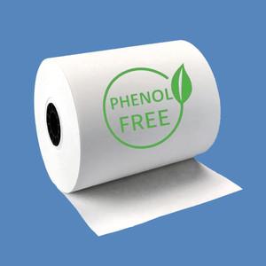 """3 1/8"""" x 220' Phenol-Free (BPA & BPS) Thermal Receipt Paper Rolls (50 Rolls) - T318-220-PF"""