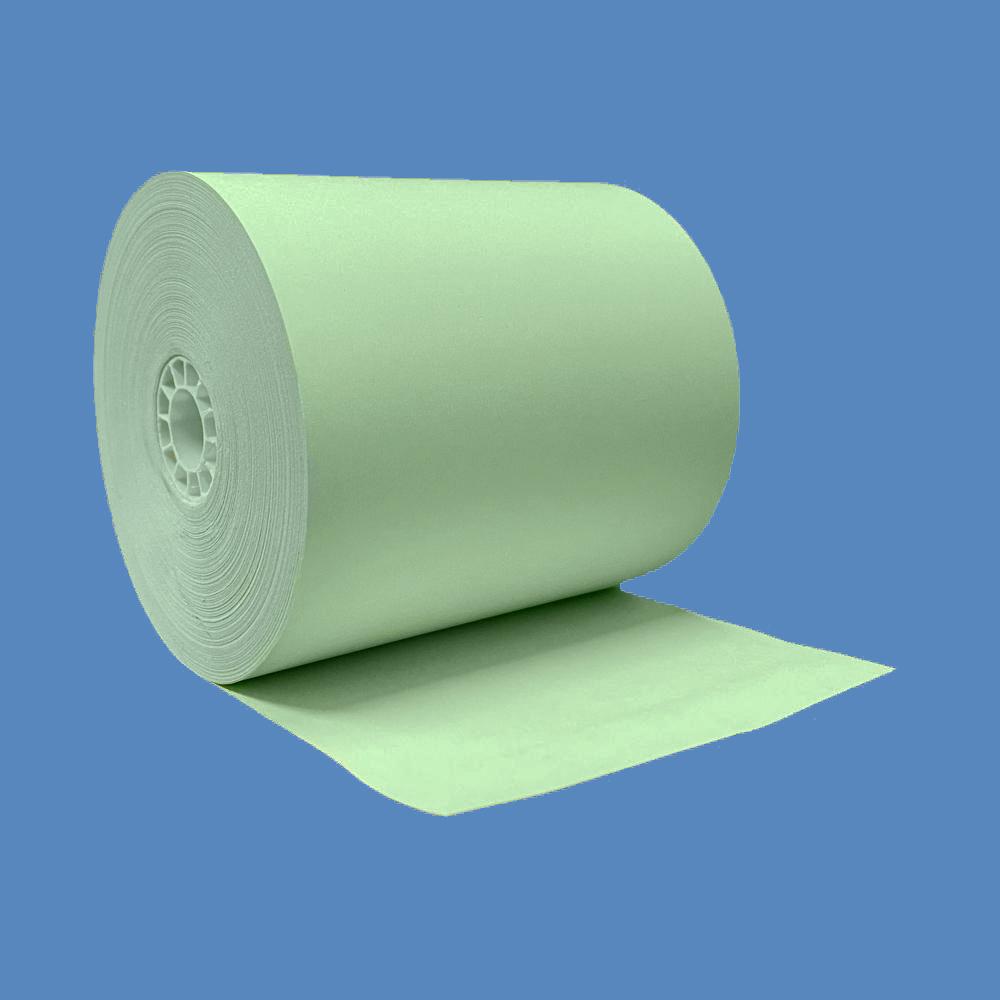 """3 1/8"""" x 230' Green BPA-Free Thermal Receipt Paper Rolls (50 Rolls)"""