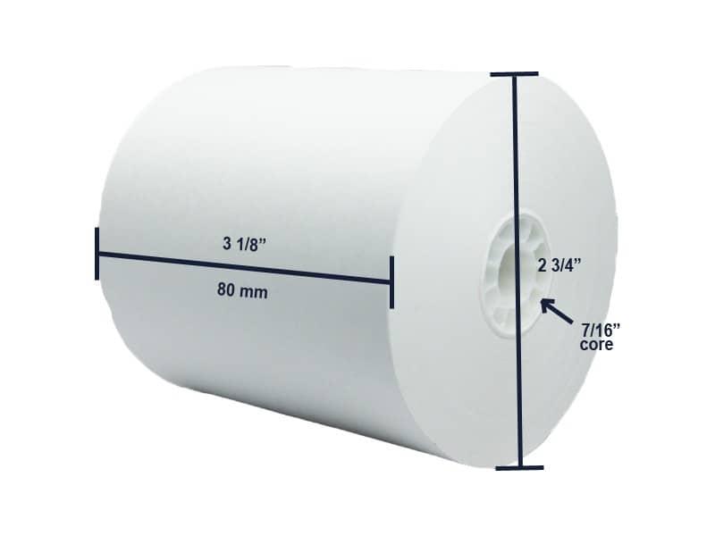 """3 1/8"""" x 230' BPA-Free Thermal Receipt Paper Rolls (50 Rolls)"""