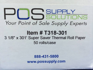 3 1 8 x 301 Thermal Receipt Label
