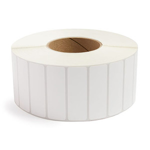 """3"""" x 1"""" Removable Adhesive Industrial Direct Thermal Labels, 3"""" Core, 5,500 Labels/Roll (8 Rolls) - L-RDT8-300100-3P REM"""