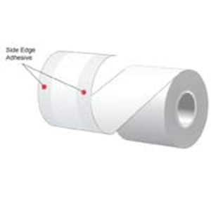 "3.125"" x 160' MAXStick 2Go, 15# Side Edge Adhesive Direct Thermal Roll, 24 rolls/case - MS3181602GOSE-24"